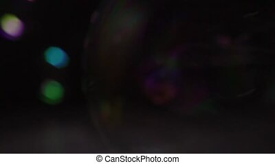 Soap bubbles close up slow motion video 3 videos in 1 clip