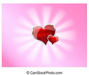 red shiny vector heart