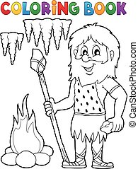 Coloring book cave man