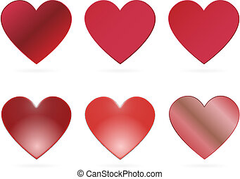 red vector hearts for valentines da