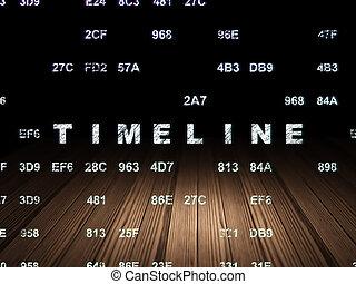 Time concept: Timeline in grunge dark room - Time concept:...