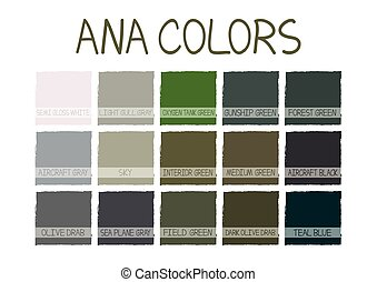 ANA. Army Navy Air Force Marines Color Tone