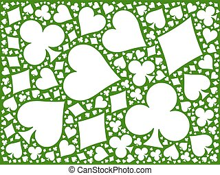 Poker card suits background - Poker cards mosaic background...