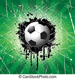 Grunge football background - Football on grunge style...