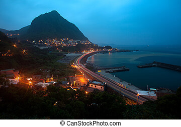 The beautiful night scenes with c-type Bay is located in...
