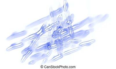 blue cells or virus flying