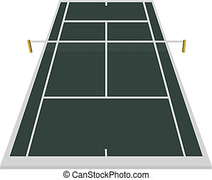 tennis court field in dark blue
