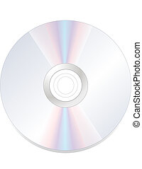 disk dvd cd rom isolated on white