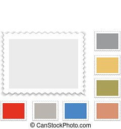 postage stamp in grey and with alternatife colors