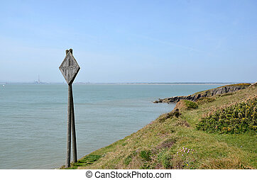 old telegraph cable pole in coast of ireland