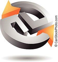 Metalic Circular Arrow