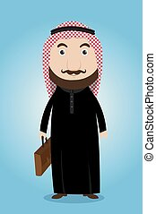 Arab businessman from vector