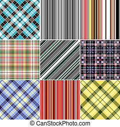 Set repeating patterns - Set colorful repeating patterns...