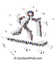 people skiing competition sport 3d - Large and creative...
