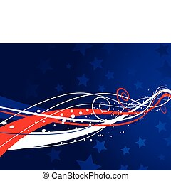 Patriotic background - Abstract patriotic background for...
