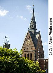 marktkirche hannover - marktkirche gothic style in hannover...