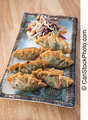 Korean Style Gyoza, Vegeterian Potstickers