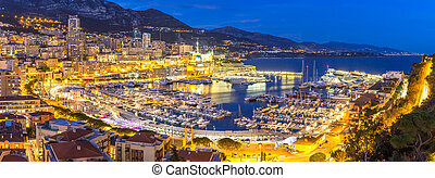 Monaco Monte Carlo harbour french riviera panorama
