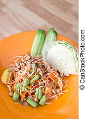 som tum Thai, papaya spicy salad Thailand food