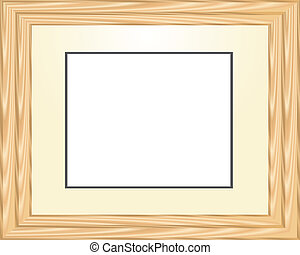 wooden horizontal picture frame in light tones