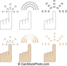hand finger pointer cursor vector