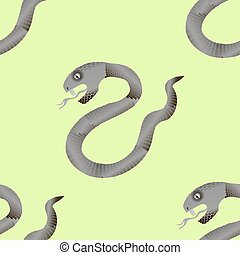 Grey Snake Seamless Background Animal Pattern Attack...