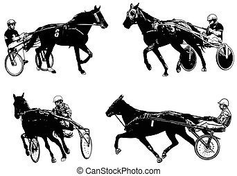 Trotters race sketch illustrations