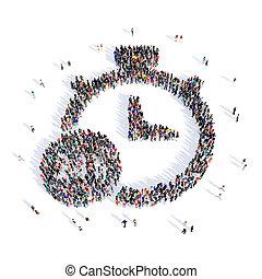 people stopwatch shape 3d
