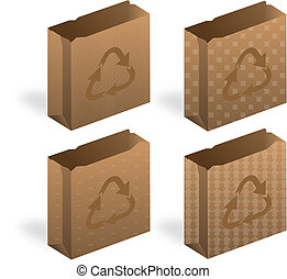 Recycling, Brown Paper Bag Icon, Shopping Bag