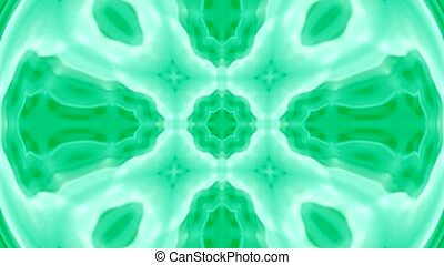 green deform flower pattern
