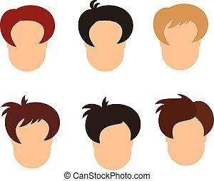 set of hairstyle man