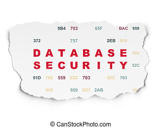 Privacy concept: Database Security on Torn Paper background