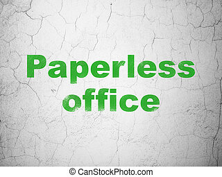 Business concept: Paperless Office on wall background