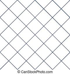 Navy Blue Grid White Diamond Background Vector Illustration