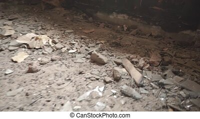 Airsoft plastic rounds hitting floor in abandoned building...