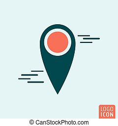 Map pin icon Location mark symbol Vector illustration