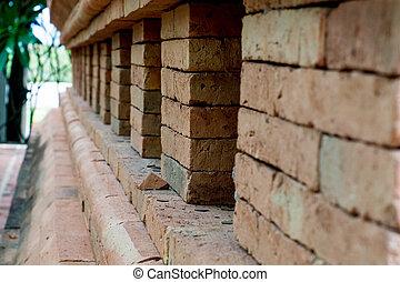 Graffiti brick wall - Closed up of Graffiti brick wall in...