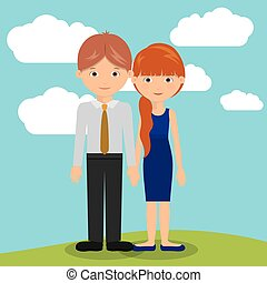 young people design, vector illustration eps10 graphic