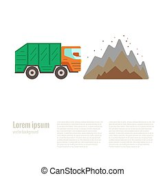 Vector illustration dump in flat style. Garbage and waste...