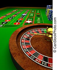 Casino Roulette 3d rendered image