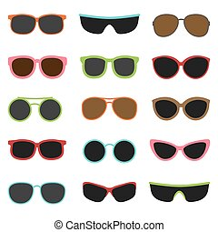 Different sun glasses