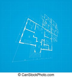 Architectural background Vector - Abstract architectural...
