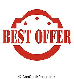 Best offer-stamp - Red stamp with text Best Offer,vector...
