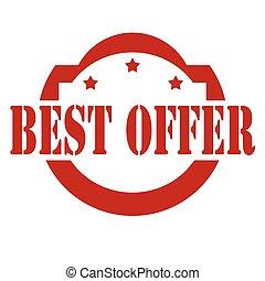 Best offer-stamp