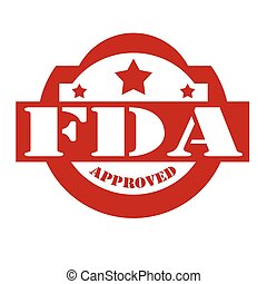 FDA Approved-stamp - Red stamp with text FDA Approved,vector...
