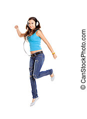 Dancing and Listen Music