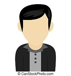 black hair caucasian man - caucasian black hair male avatar...
