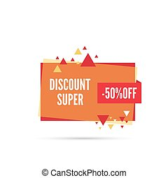 special offer, discount - Sale banner Vector tag special...