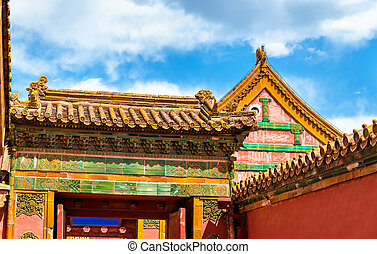 Traditional roofs of the Forbidden City in Beijing, China