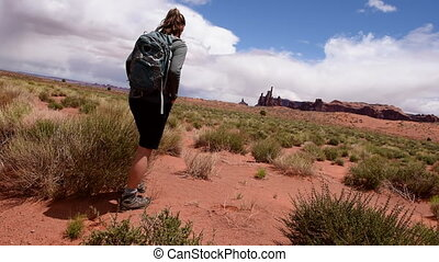 Hiking Monument Valley